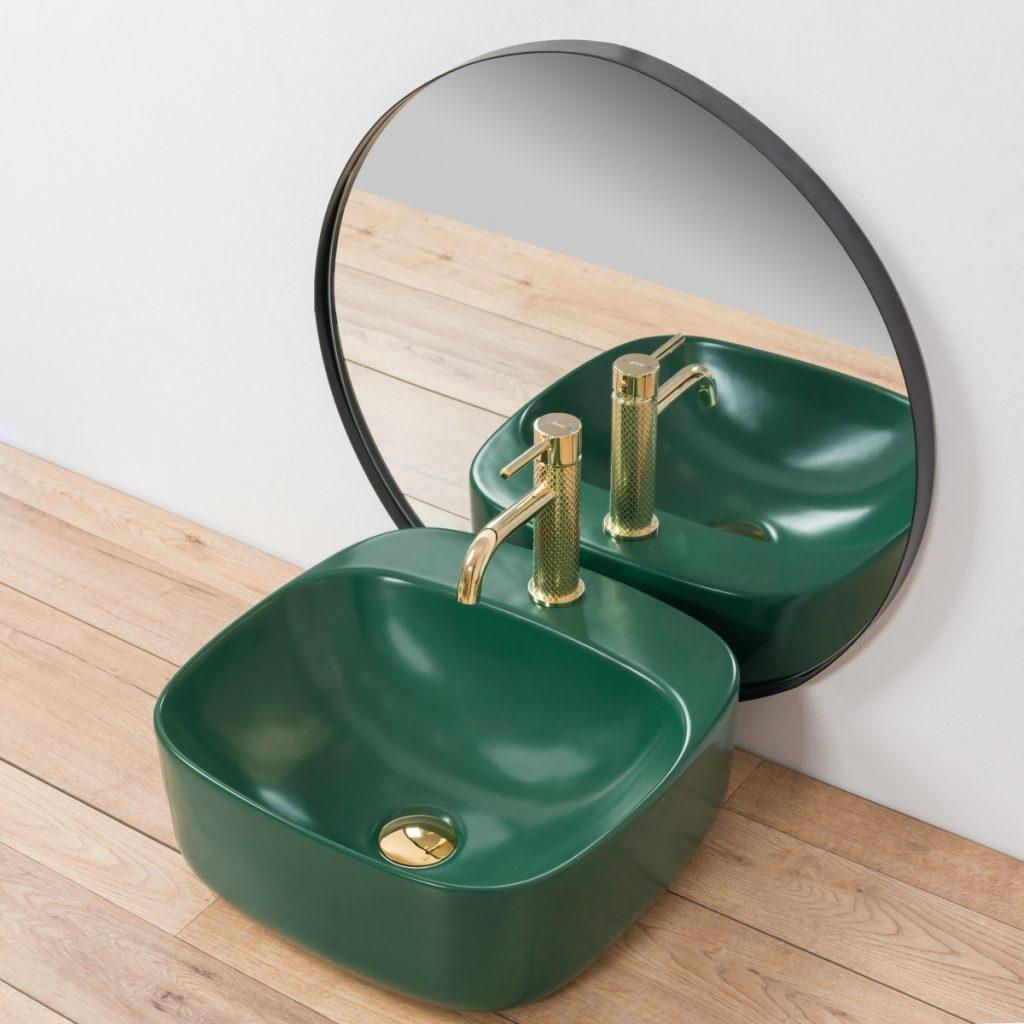 Zelené umývadlo REA, séria Luiza